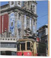 Porto Trolley 1 Wood Print