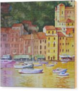Portofino Afternoon Wood Print