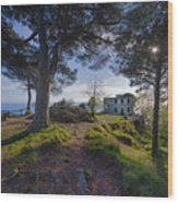 The House Of The Rising Sun In Portofino Wood Print