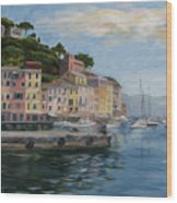 Portofino Port Wood Print