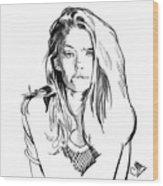 Portrait 4 Wood Print