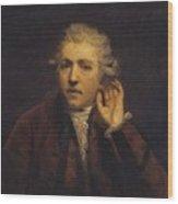 Portrait As A Deaf Man Wood Print