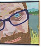 Portrait At Lake Junaluska Wood Print