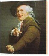 Portrait De L Artiste Sous Les Traits D Un Moqueur 1793 Wood Print