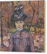 Portrait De Suzanne Valadon Madame Suzanne Valadon, Artiste Peintre 1885 Wood Print