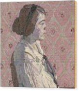 Portrait In Profile Wood Print