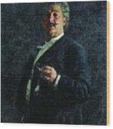 Portrait Mo Mikeshin 1888 Ilya Repin Wood Print