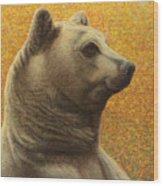 Portrait Of A Bear Wood Print