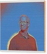 Portrait Of A Caucasian Male Wood Print