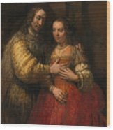 Portrait Of A Couple As Figures From The Old Testament Wood Print
