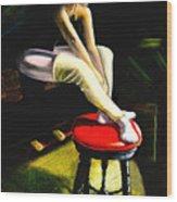 Portrait Of A Dancer Wood Print