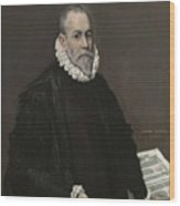 Portrait Of A Doctor Wood Print