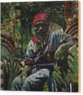 Portrait Of A Friend Wood Print by Samuel Miller