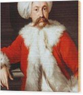 Portrait Of A Gentleman In Oriental Costume Wood Print