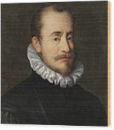 Portrait Of A Gentleman Workshop Of Hans Von Aachen - Circa 1600 Wood Print