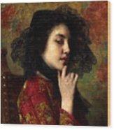 Portrait Of A Georgian Princess Wood Print