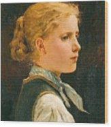 Portrait Of A Girl Wood Print