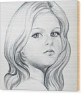Portrait Of A Girl Wood Print