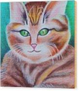 Portrait Of A Kitten Wood Print