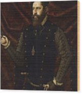 Portrait Of A Knight Of The Order Of Santiago Wood Print