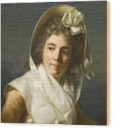 Portrait Of A Lady Wood Print