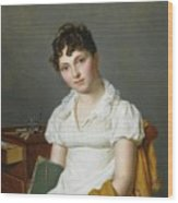 Portrait Of A Lady Half Length Wood Print