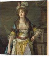 Portrait Of A Lady In Turkish Fancy Dress Wood Print