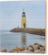Portrait Of A Lighthouse Wood Print