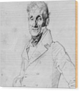 Portrait Of A Man Possible Edma Bochet Wood Print