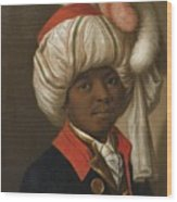 Portrait Of A Man Wearing A Turban Wood Print