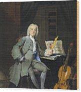 Portrait Of A Member Of The Van Der Mersch Family, 1736 Wood Print