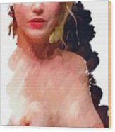 Portrait Of A Naked Lady Wood Print