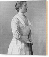 Portrait Of A Nurse Wood Print