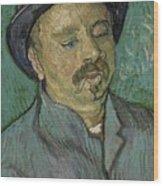 Portrait Of A One Eyed Man Saint Remy De Provence  Autumn 1889 Vincent Van Gogh 1853  1890 Wood Print