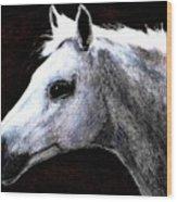 Portrait Of A Pale Horse Wood Print