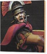 Portrait Of A Roman Legionary - 11 Wood Print