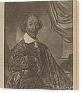 Portrait Of A Seated Man Wood Print