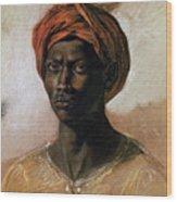 Portrait Of A Turk In A Turban Wood Print