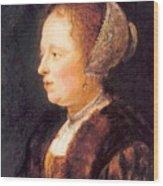 Portrait Of A Woman 1640 Wood Print