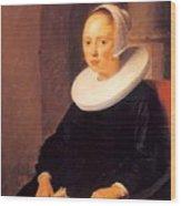 Portrait Of A Woman 1646 Wood Print