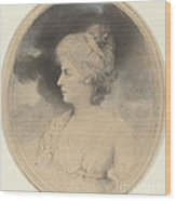 Portrait Of A Woman In Profile Wood Print