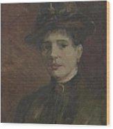 Portrait Of A Woman Paris  March  June 1886 Vincent Van Gogh 1853  1890 Wood Print