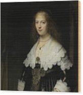 Portrait Of A Woman - Possibly Maria Trip Wood Print
