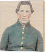 Portrait Of A Young  Civil War Soldier 3 Wood Print