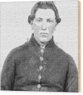 Portrait Of A Young  Civil War Soldier 4 Wood Print