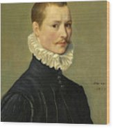 Portrait Of A Young Gentleman Head And Shoulders At The Age Of 23 Wood Print