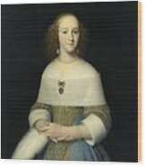 Portrait Of A Young Lady Wood Print