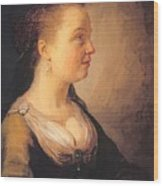 Portrait Of A Young Woman 1640 Wood Print