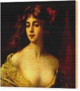 Portrait Of A Young Woman Wood Print