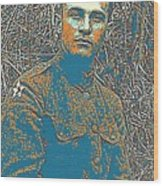 Portrait Of A Young  Wwi Soldier Series 16 Wood Print